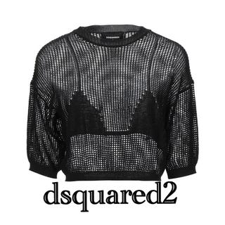 ディースクエアード(DSQUARED2)の【新品】DSQUARED2  メッシュ トップス プルオーバー(Tシャツ(半袖/袖なし))