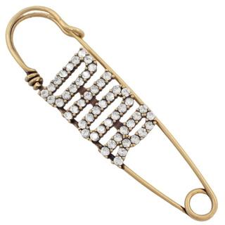 クリスチャンディオール(Christian Dior)のクリスチャンディオール ロゴ ブローチ メタル ゴールド 40800073065(ブローチ/コサージュ)