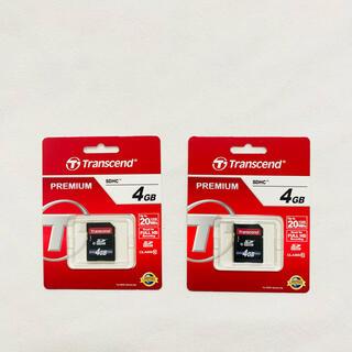 トランセンド(Transcend)の【新品・未使用】トランセンド SDカード 4GB(PC周辺機器)