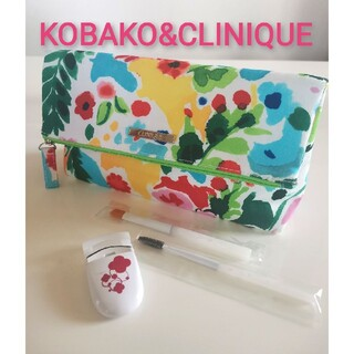 クリニーク(CLINIQUE)のKOBAKOブラシセット&アイラッシュカーラー☆CLINIQUEポーチ(ブラシ・チップ)