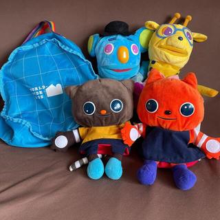 ワールドワイドキッズ ステージ1 パペット 4体組 バッグ付き(知育玩具)