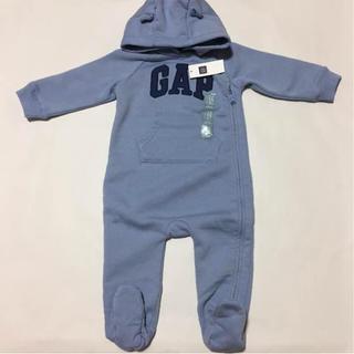 cd8f19fea87158 ベビーギャップ(babyGAP)の新品タグ付 gap カバーオール くま耳 80 ブルー(