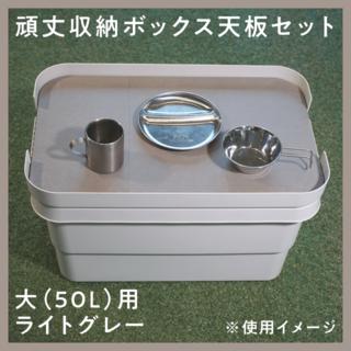 ムジルシリョウヒン(MUJI (無印良品))の無印頑丈収納ボックス「大」サイズ用天板(テーブル/チェア)