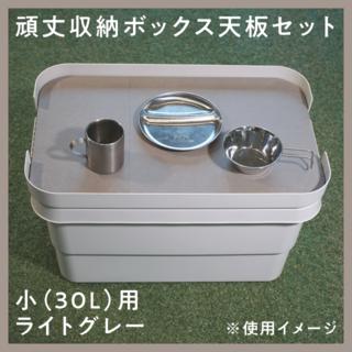 ムジルシリョウヒン(MUJI (無印良品))の無印頑丈収納ボックス「小」サイズ用天板(テーブル/チェア)