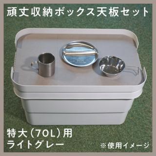 ムジルシリョウヒン(MUJI (無印良品))の無印頑丈収納ボックス「特大」サイズ用天板(テーブル/チェア)