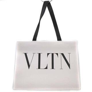 ヴァレンティノガラヴァーニ(valentino garavani)のヴァレンティノ ガラヴァーニ トート ハンドバッグ VLTN ロゴ レザー 白(トートバッグ)