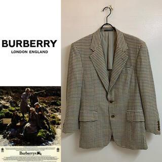 バーバリー(BURBERRY)のBURBERRYS VINTAGE 80s ウール&シルク チェックジャケット(テーラードジャケット)
