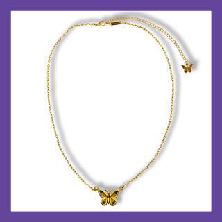 ピースマイナスワン(PEACEMINUSONE)のSTUGAZI GOLD BUTTERFLY NECKLACE (ネックレス)