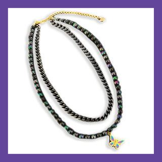 ピースマイナスワン(PEACEMINUSONE)のSTUGAZI Zeus Butterfly necklace (ネックレス)