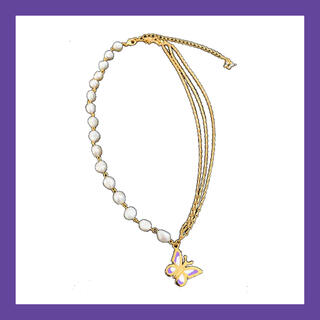 ピースマイナスワン(PEACEMINUSONE)のSTUGAZI Aqua Gold Angel (ネックレス)