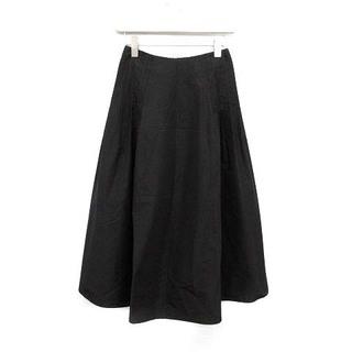 ジルサンダー(Jil Sander)のジルサンダー 2017年製 スカート ロング フレア 34 XS 黒 ブラック(ロングスカート)