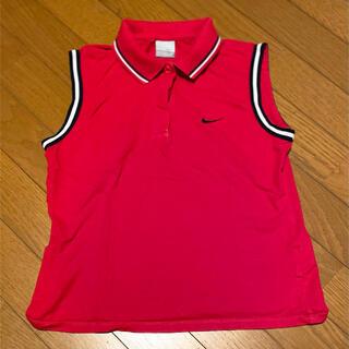NIKE - ナイキゴルフ 袖なし ポロシャツ レディース 赤