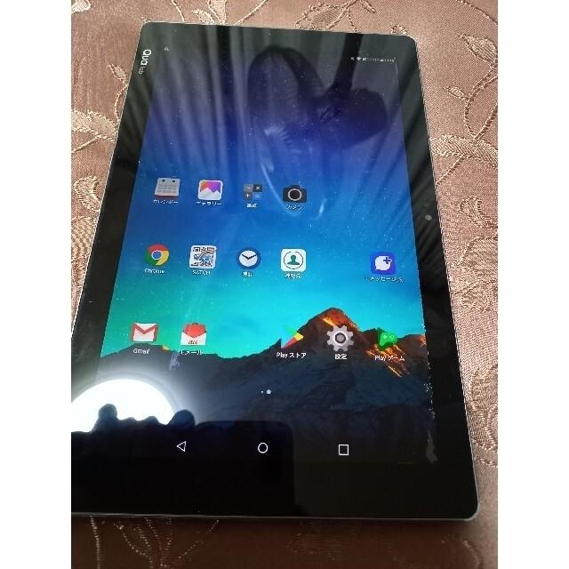 LG Electronics(エルジーエレクトロニクス)のau♡Quatabブラック♡タブレット スマホ/家電/カメラのPC/タブレット(タブレット)の商品写真