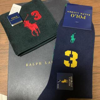 POLO RALPH LAUREN - ラルフローレン メンズソックス タオルハンカチ セット