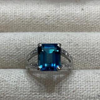 天然トパーズ ダイヤモンドリング(リング(指輪))