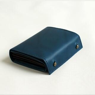 エムピウ(m+)の【新品】エムピウ(M+)ミッレフォッリエ2P25  ブルー(折り財布)