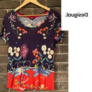 デシグアル(DESIGUAL)の新品未使用! デシグアル 花柄ビジューTシャツ♡(Tシャツ(半袖/袖なし))