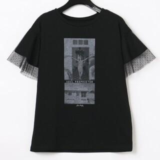 グレースコンチネンタル(GRACE CONTINENTAL)のグレース新品チュールフォトTシャツ(Tシャツ(半袖/袖なし))