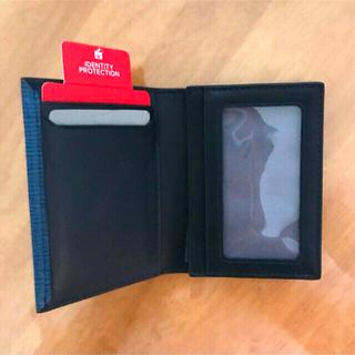 トゥミ(TUMI)のTUMI Gusseted Card Case ガセットカードケース コバルト(名刺入れ/定期入れ)