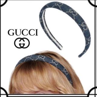 グッチ(Gucci)のGUCCI♡デニム生地♡カチューシャ(カチューシャ)