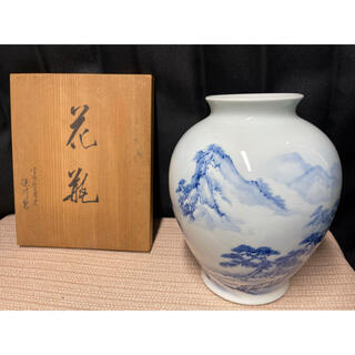 深川製磁 美品 花瓶 壺 オブジェ インテリア 置物 飾り 和室 高級(花瓶)