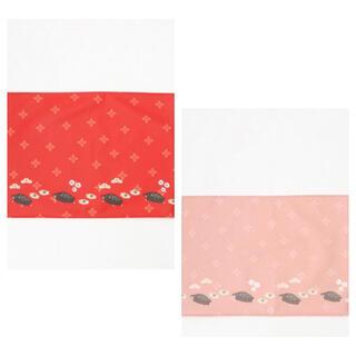 アフタヌーンティー(AfternoonTea)の‼️Afternoontea干支柄イノシシ ランチョンマット レッドとピンク(テーブル用品)