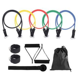 エクササイズバンド トレーニングチューブ レジスタンスバンド 収納袋付き(エクササイズ用品)