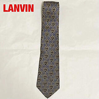 ランバン(LANVIN)の【高級】LANVIN ランバン 総柄ネクタイ 幾何学模様 ハート柄 ナイト(ネクタイ)