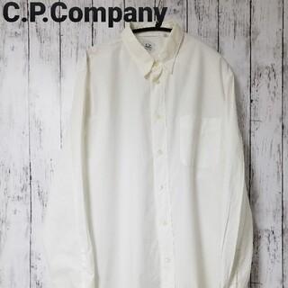 ストーンアイランド(STONE ISLAND)の【イタリア製】C.P.COMPANY 長袖シャツ ドレスシャツ 白 ホワイト(シャツ)
