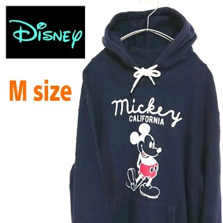 ディズニー(Disney)の90s DISNEY ディズニー ビッグロゴ ミッキー パーカー フーディー(パーカー)
