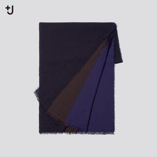 ユニクロ(UNIQLO)のユニクロ ジルサンダー +J ウールストール ネイビー新品(マフラー)