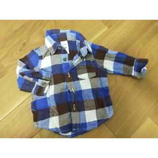 カーターズ(carter's)の美品 Carter's長袖チェックシャツ 3ヶ月用(Tシャツ)