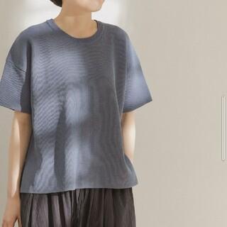 ドアーズ(DOORS / URBAN RESEARCH)の☆DOORS!FORK&SPOON ペーパーニットTシャツ ブルー!(Tシャツ(半袖/袖なし))