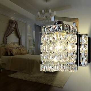 シャンデリア 2個セット シルバー ② クリスタルガラス制(天井照明)