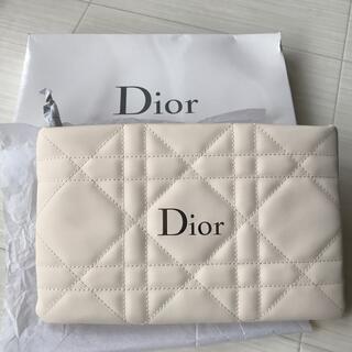 ディオール(Dior)のディオール Dior ポーチ クラッチ ノベルティ 非売品 ホワイト ロゴ 新品(ポーチ)