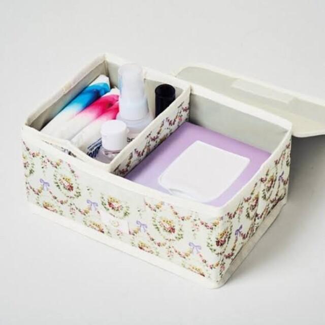 Maison de FLEUR(メゾンドフルール)の【新品】steady 6月号 付録 メゾンドフルール 収納ボックス インテリア/住まい/日用品のインテリア小物(小物入れ)の商品写真