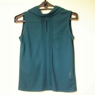 処分 ノースリーブ シャツ ネック後ろリボン グリーン(シャツ/ブラウス(半袖/袖なし))