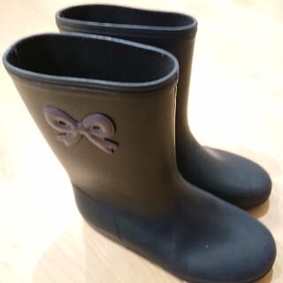 familiar - ポンプキンズのリボン長靴18.0