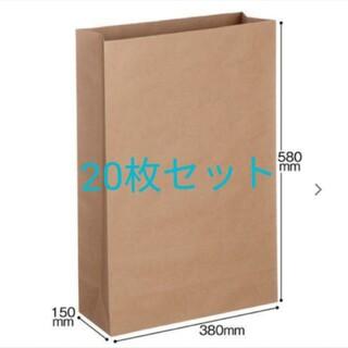 宅配袋(紙製) 茶 特大・マチ広サイズ 封かんシールなし (20枚入)(ラッピング/包装)
