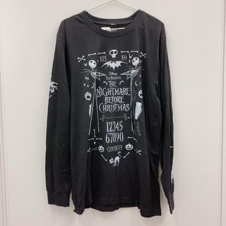 ディズニー(Disney)の降霊術 文字盤 長袖 Tシャツ ラウンジフライ ナイトメアビフォアクリスマス(Tシャツ/カットソー(七分/長袖))