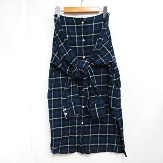 シンゾーン(Shinzone)のシンゾーン Shinzone ロングスカート シャツデザイン 台形(ロングスカート)