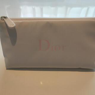 ディオール(Dior)のディオール  ポーチ ホワイト 軽量(ポーチ)