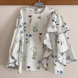 ルシェルブルー(LE CIEL BLEU)のle ciel bleu 花柄 ブラウス(シャツ/ブラウス(半袖/袖なし))
