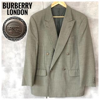 バーバリー(BURBERRY)の極美品⭐️バーバリーロンドン 三陽商会 モヘア&シルク混 銀ボタン ジャケット(テーラードジャケット)