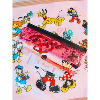 ディズニー(Disney)のミニーちゃん歯ブラシセット♡新品(歯ブラシ/デンタルフロス)