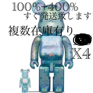 メディコムトイ(MEDICOM TOY)のBearbrick X-girl 2021 100% & 400%x4(その他)