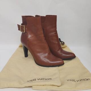 LOUIS VUITTON - ルイヴィトン ショート ブーツ ブラウン レザー size37