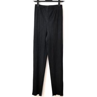 PLEATS PLEASE ISSEY MIYAKE - プリーツプリーズ パンツ サイズ4 XL - 黒