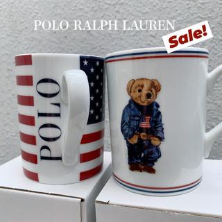ポロラルフローレン(POLO RALPH LAUREN)の【新品】RALPH LAUREN ★ 星条旗 ポロベア マグカップ 2個セット(グラス/カップ)