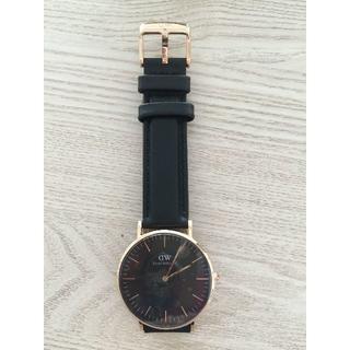 ダニエルウェリントン(Daniel Wellington)のダニエルウェリントン新品 ブラック男士腕時計 40MM(腕時計(アナログ))